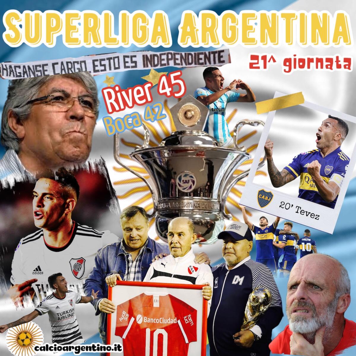 -2 al termine! Il punto sulla 21ª giornata di Superliga Argentina