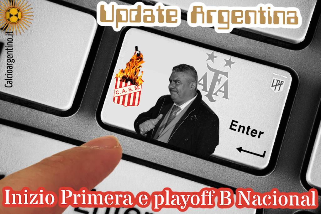 Update Argentina: inizio Primera e playoff B Nacional