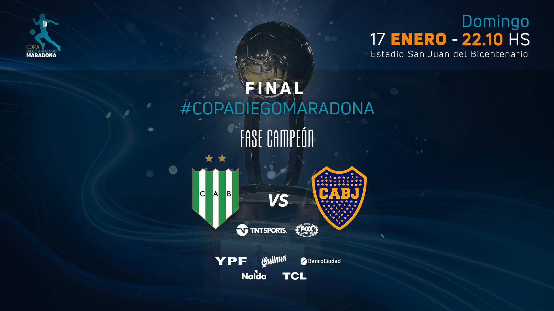 Banfield vs Boca: chi alzerà la Copa Maradona?