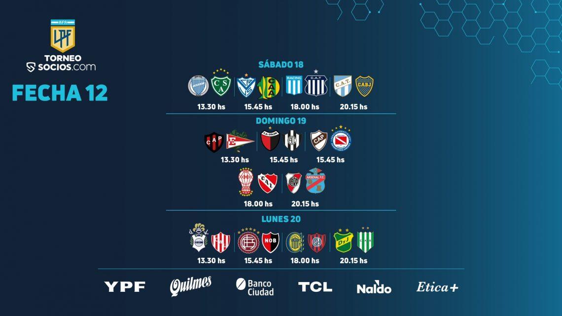 Primera División argentina: 12° turno